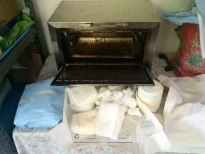 Der Ofen zum Sterilisieren der Utensilien