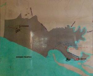 Übersichtskarte über die Region um El Zapote