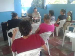 Der Vortrag in der Schule in El Provenir