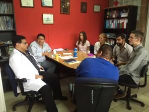 Meeting at Ahuachapan hospital