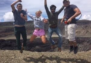 Team expedition to Santa Ana volcano.