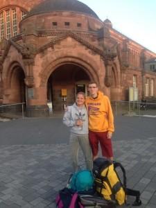 Begin of our journey at Gießen train station